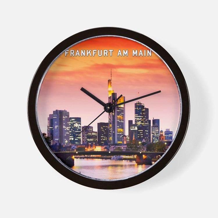 Frankfurt 02D Wall Clock