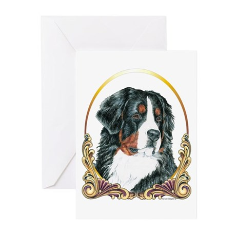Bernese Mountain Dog Christmas Greeting Cards (Pac
