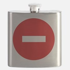 3-11x11 no entry sign Flask