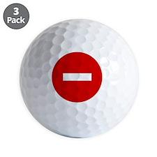 3-11x11 no entry sign Golf Ball