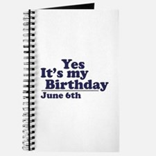June 6 Birthday Journal