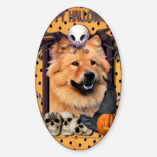 HalloweenNightmare_Chow_Chow_Cinny Sticker (Oval)