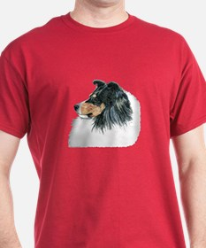 Tri Shetland Sheepdog Sheltie Dark Colored T-Shirt