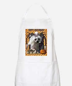 HalloweenNightmare_Chinese_Crested_Kahlo Apron