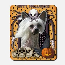 HalloweenNightmare_Chinese_Crested_Kahlo Mousepad