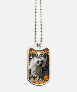 HalloweenNightmare_Chinese_Crested_Kahlo Dog Tags