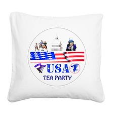 Tea Party Square Canvas Pillow