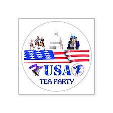 """Tea Party Square Sticker 3"""" x 3"""""""