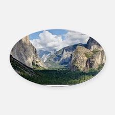 YosemiteValley14x10 Oval Car Magnet