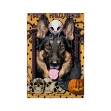 HalloweenNightmare_German_Shepher Rectangle Magnet
