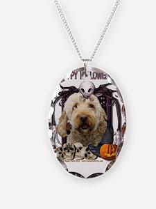 HalloweenNightmare_Goldendoodl Necklace