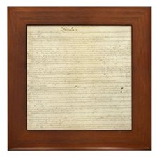 Constitution Framed Tile