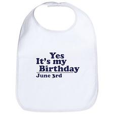 June 3 Birthday Bib