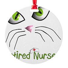 Retired Nurse Cat Face Ornament