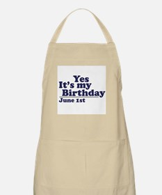 June 1 Birthday BBQ Apron