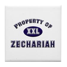 My heart belongs to zechariah Tile Coaster