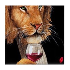 Wine King Tile Coaster