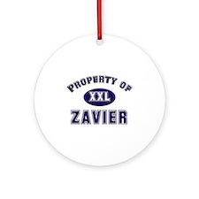 My heart belongs to zavier Ornament (Round)