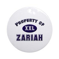 My heart belongs to zariah Ornament (Round)