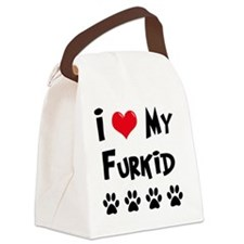 I-Love-My-Furkid Canvas Lunch Bag