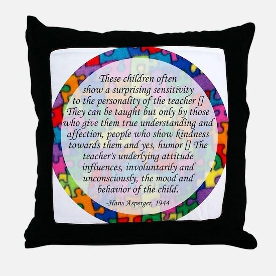 traits clock copy Throw Pillow