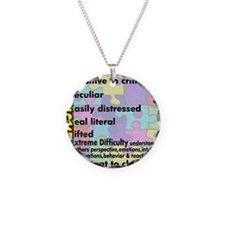 traits nrrow Necklace Circle Charm