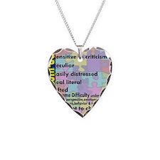 traits nrrow Necklace Heart Charm