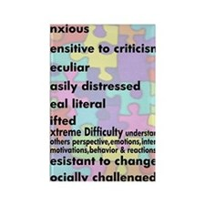 traits nrrow Rectangle Magnet