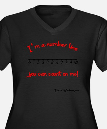 Im a Number  Women's Plus Size Dark V-Neck T-Shirt
