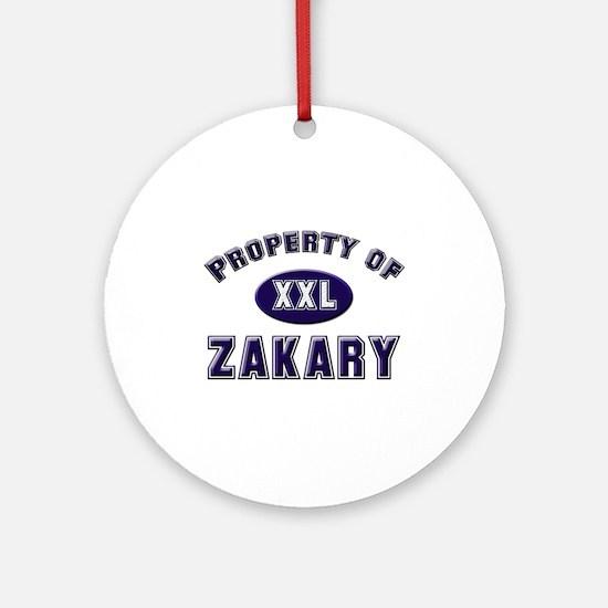 My heart belongs to zakary Ornament (Round)