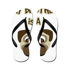 2-my_bros_a_pug Flip Flops