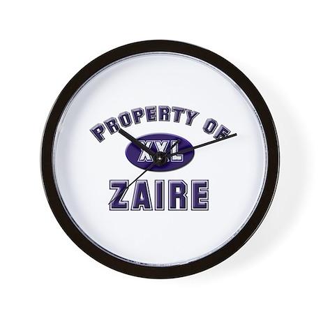 My heart belongs to zaire Wall Clock