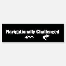 Navigationally Challenged Bumpersticker