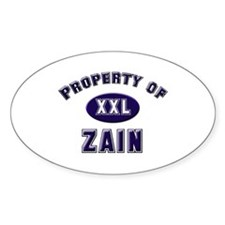 My heart belongs to zain Oval Decal