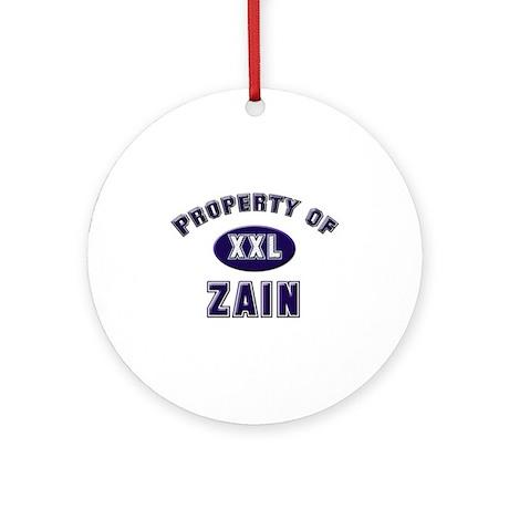 My heart belongs to zain Ornament (Round)