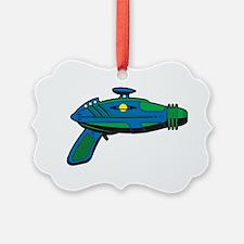 RaygunBlueGreen Ornament