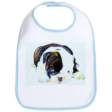 Bulldog Art Bib