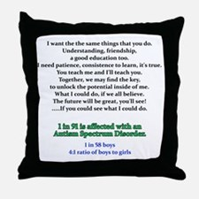 if u could see quote Throw Pillow