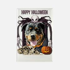HalloweenNightmare_Rottweiler_Sam Rectangle Magnet