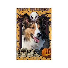 HalloweenNightmare_Sheltie Rectangle Magnet