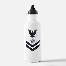 USCG-Rank-ET2-Blue-Cro Water Bottle