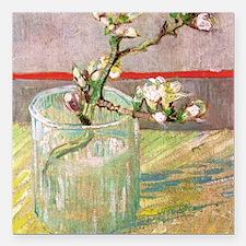 "Van Gogh 1853 - 1890  Bl Square Car Magnet 3"" x 3"""