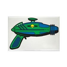 RaygunGreenBlue Rectangle Magnet