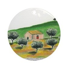 IMG_0054-olive trees in Enna center Round Ornament