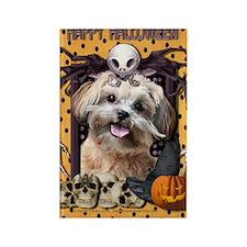 HalloweenNightmare_ShihPoo_Maggie Rectangle Magnet