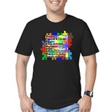 Aspergers Fitted T-shirts (Dark)