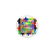 asd traits fut no white Mini Button