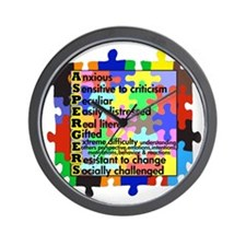 asd traits fut no white Wall Clock