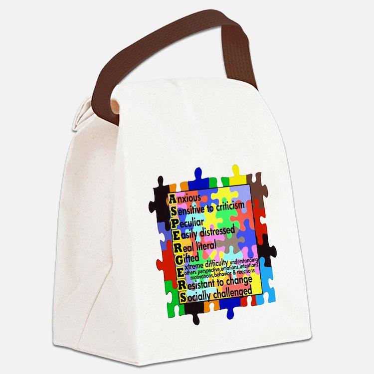 asd traits fut no white Canvas Lunch Bag