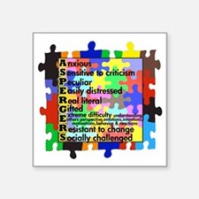 "asd traits fut no white Square Sticker 3"" x 3"""